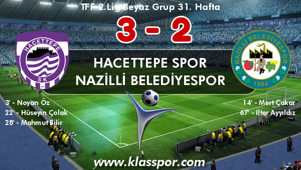 Hacettepe Spor 3 - Nazilli Belediyespor 2