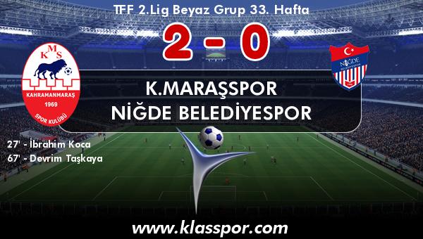 K.Maraşspor 2 - Niğde Belediyespor 0