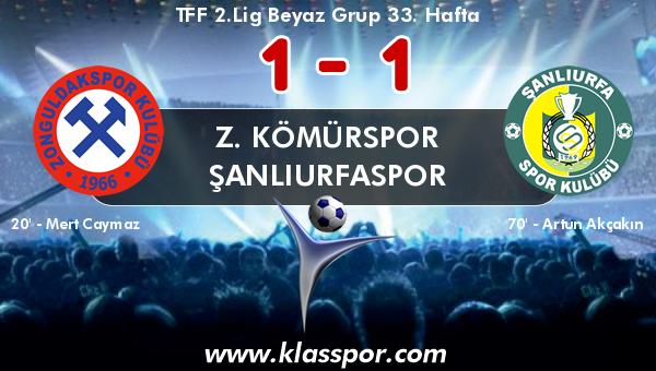 Z. Kömürspor 1 - Şanlıurfaspor 1
