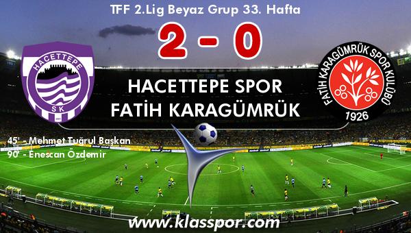Hacettepe Spor 2 - Fatih Karagümrük 0