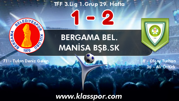 Bergama Bel. 1 - Manisa BŞB.SK 2