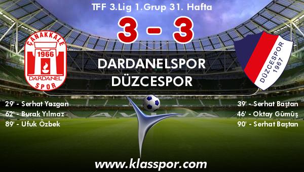 Dardanelspor 3 - Düzcespor 3