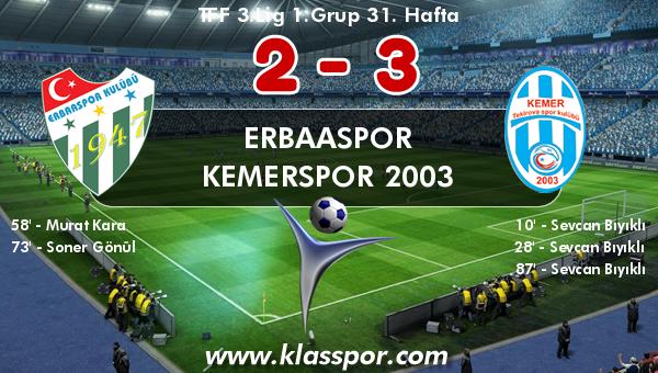 Erbaaspor 2 - Kemerspor 2003 3