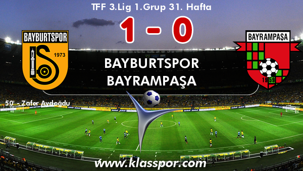 Bayburtspor 1 - Bayrampaşa 0