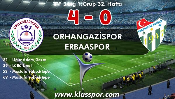 Orhangazispor 4 - Erbaaspor 0