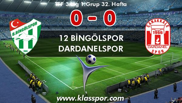 12 Bingölspor 0 - Dardanelspor 0
