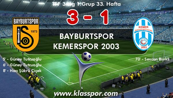 Bayburtspor 3 - Kemerspor 2003 1