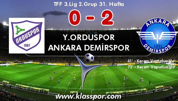 Y.Orduspor 0 - Ankara Demirspor 2