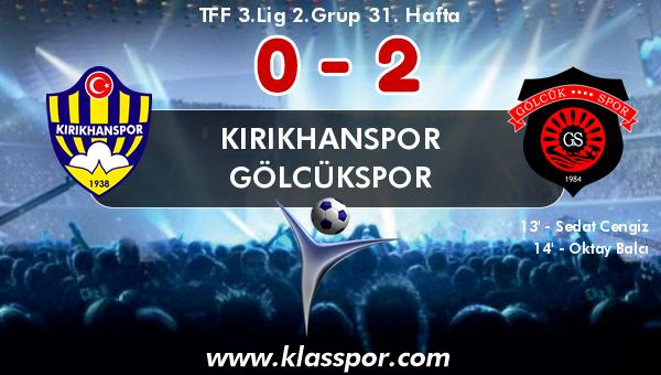 Kırıkhanspor 0 - Gölcükspor 2