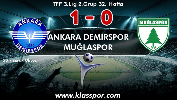 Ankara Demirspor 1 - Muğlaspor 0