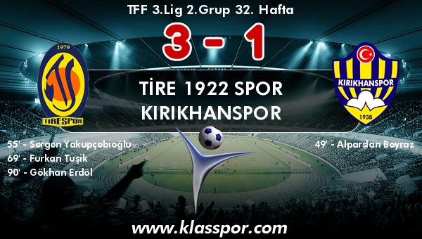 Tire 1922 Spor 3 - Kırıkhanspor 1