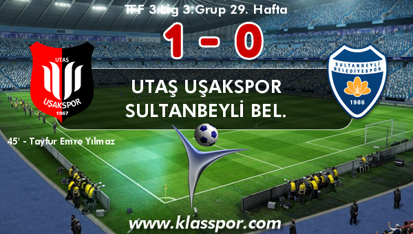 Utaş Uşakspor 1 - Sultanbeyli Bel. 0