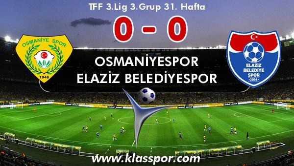 Osmaniyespor 0 - Elaziz Belediyespor 0