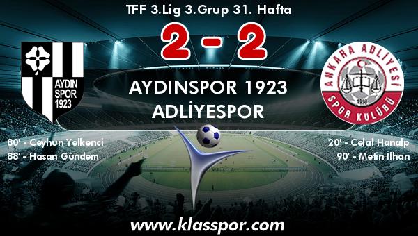 Aydınspor 1923 2 - Adliyespor 2
