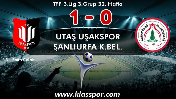 Utaş Uşakspor 1 - Şanlıurfa K.Bel. 0