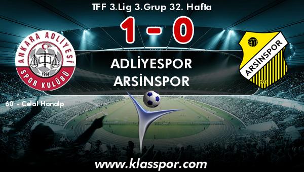 Adliyespor 1 - Arsinspor 0