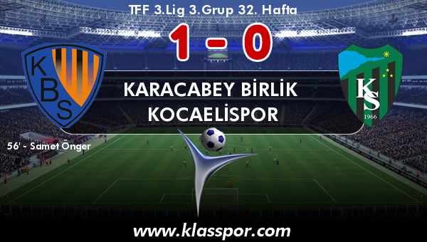 Karacabey Birlik  1 - Kocaelispor 0