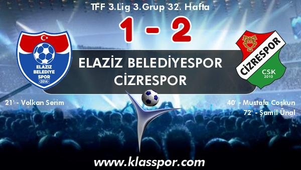 Elaziz Belediyespor 1 - Cizrespor 2
