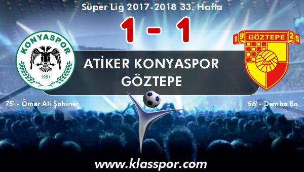 Atiker Konyaspor 1 - Göztepe 1