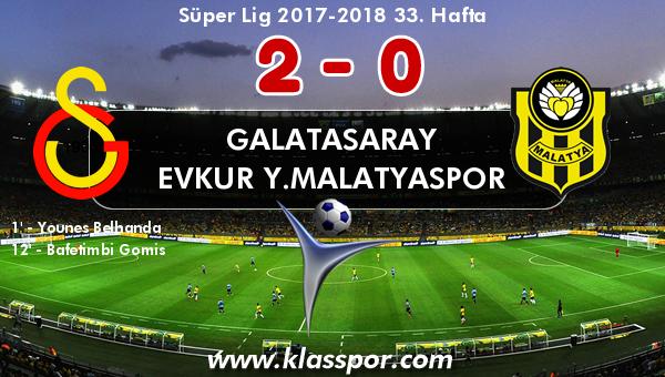 Galatasaray 2 - Evkur Y.Malatyaspor 0