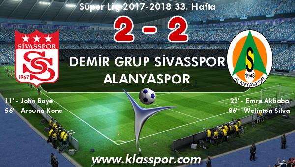Demir Grup Sivasspor 2 - Alanyaspor 2