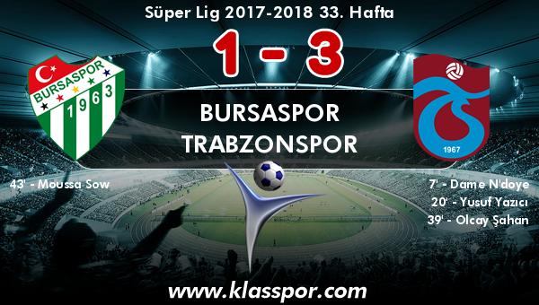 Bursaspor 1 - Trabzonspor 3