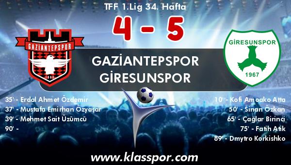 Gaziantepspor 4 - Giresunspor 5