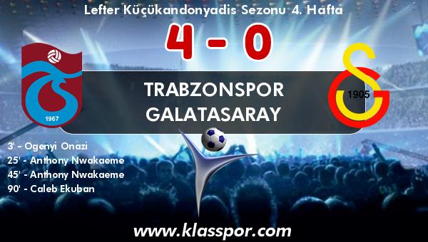 Trabzonspor 4 - Galatasaray 0
