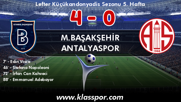M.Başakşehir 4 - Antalyaspor 0