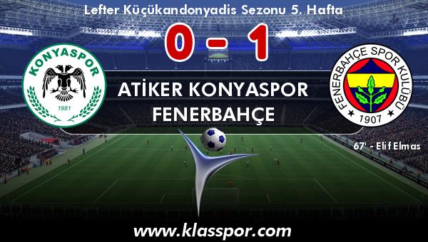 Atiker Konyaspor 0 - Fenerbahçe 1