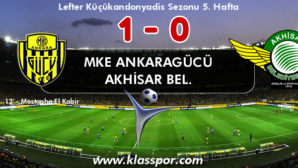 MKE Ankaragücü 1 - Akhisar Bel. 0