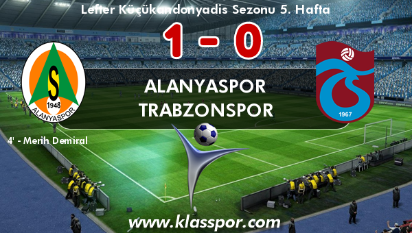 Alanyaspor 1 - Trabzonspor 0