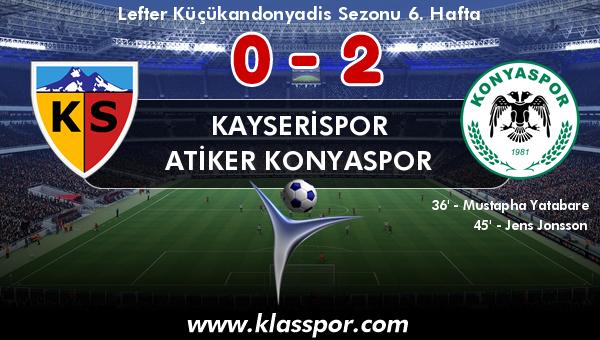 Kayserispor 0 - Atiker Konyaspor 2