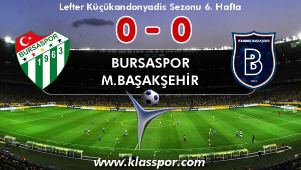 Bursaspor 0 - M.Başakşehir 0