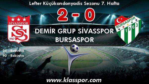 Demir Grup Sivasspor 2 - Bursaspor 0