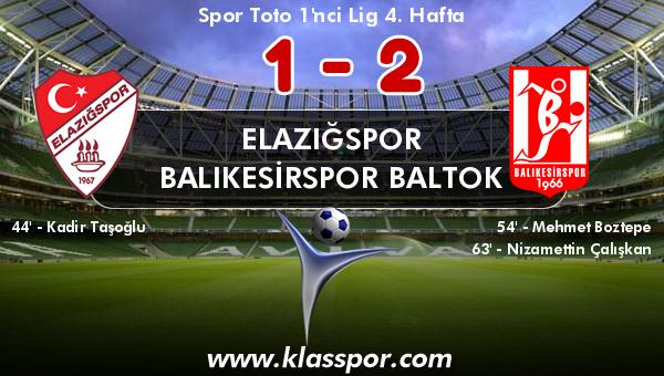 Elazığspor 1 - Balıkesirspor Baltok 2