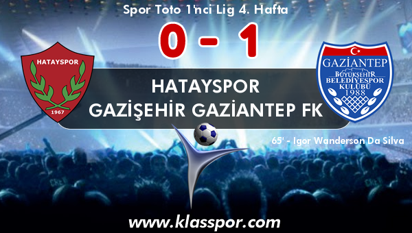 Hatayspor 0 - Gazişehir Gaziantep FK 1