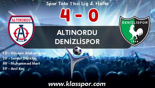 Altınordu 4 - Denizlispor 0