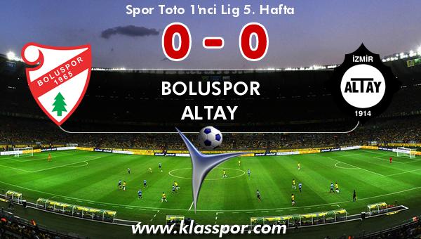 Boluspor 0 - Altay 0