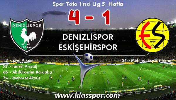 Denizlispor 4 - Eskişehirspor 1