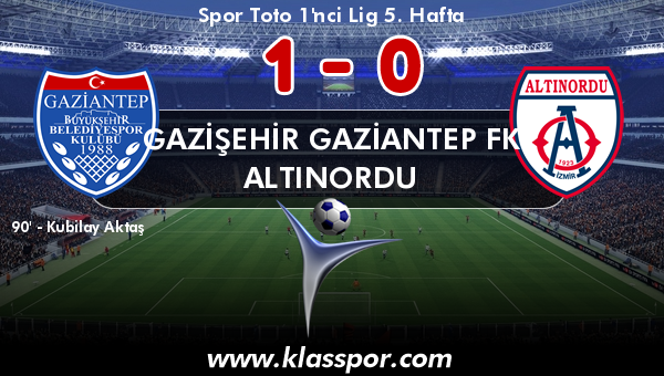 Gazişehir Gaziantep FK 1 - Altınordu 0
