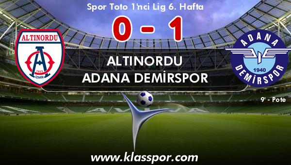 Altınordu 0 - Adana Demirspor 1