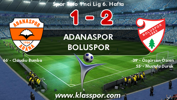 Adanaspor 1 - Boluspor 2