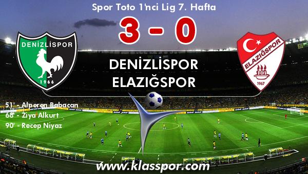 Denizlispor 3 - Elazığspor 0