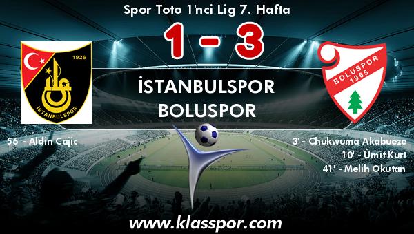 İstanbulspor 1 - Boluspor 3