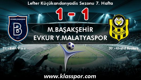 M.Başakşehir 1 - Evkur Y.Malatyaspor 1