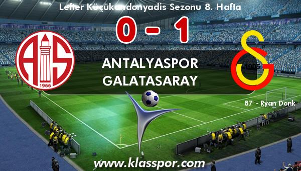Antalyaspor 0 - Galatasaray 1