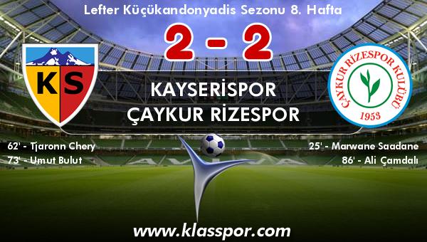 Kayserispor 2 - Çaykur Rizespor 2
