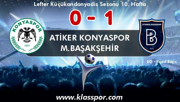 Atiker Konyaspor 0 - M.Başakşehir 1