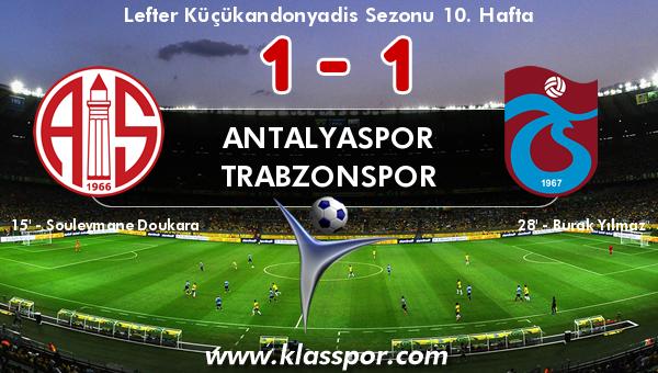 Antalyaspor 1 - Trabzonspor 1